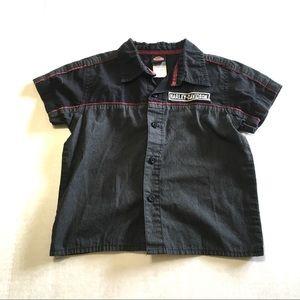 Harley- Davidson 'Gargage Shirt' Button Down Shirt